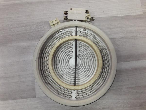 Bosch NKM 615 M / 04, Zweikreiszone, 1700/700 Watt, Kochplatte, Ceranfeld, gebraucht, Ersatzteil, Erkelenz,